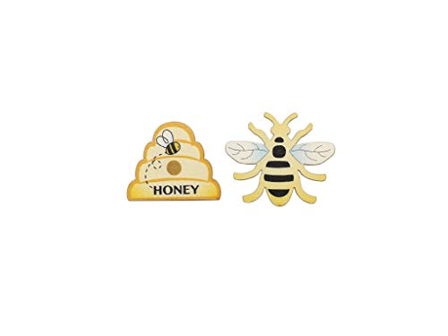 Glorex Decorative Bee and Bee Wooden Beehive, Multi-Colour, 3.8 x 3.2 cm