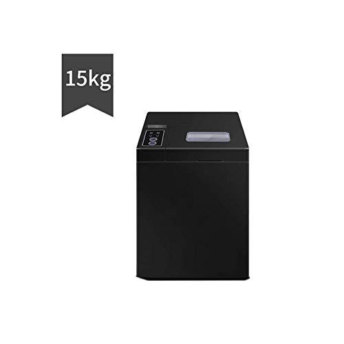 Máquina para hacer hielo, cubitos de hielo, 15/25 kg, bajo ruido, sin sabor, fácil de limpiar, alto rendimiento, tiempo de preparación, 220 V 100 W, Aleación, negro, 15KG