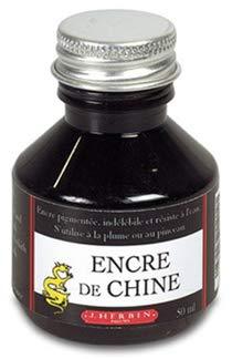Herbin 11209T - Un flacon d'encre de Chine noire, 50 ml