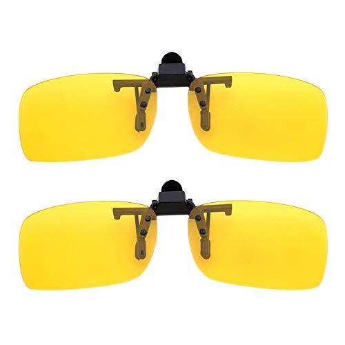 ZEVONDA Clip en gafas de Sol Lentes de Visión Nocturna Polarizados - Protección UV400 Antirreflectante para Conducción/Pesca/Deportes al aire libre