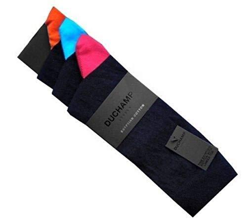 Duchamp London Herren Socken 3er-Pack, Einheitsgröße, 41-46, Schwarz