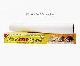 Papel antiaderente para cozinhar Dover Assa + Leve, conjunto com 3 rolos de 30 cm x 3 m