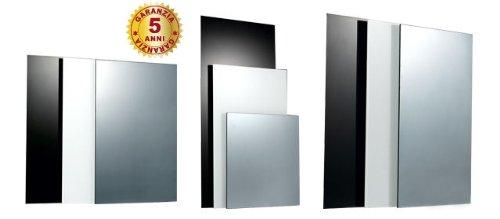 Infrarood verwarmingspaneel 600 W verwarming airco warmtepomp van glas wit 60 x 90 x 2.5
