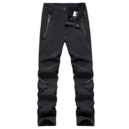 BWBIKE Hommes Hiver Polaire Épais Chaud Pantalon Extérieure Coupe-Vent Pantalon Imperméable Imperméable À La Randonnée Pantalon Pantalon Soft Shell Homme