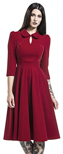 H&R London Vestido Glamourous Velvet Tea Dreams Mujer Vestidos de Longitud Media Rojo