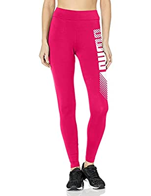 PUMA Women's ESS+ Graphic Leggings, Bright Rose, XS