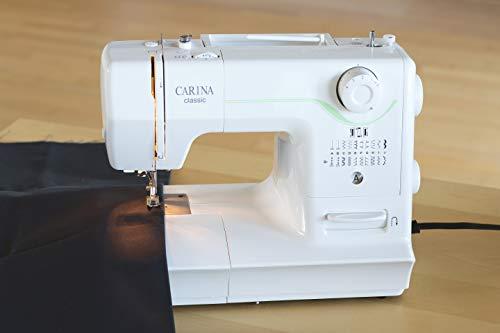 Carina Classic Nähmaschine, Kunststoff/Metall, Weiss, 38 x 16.1 x 27.6 cm