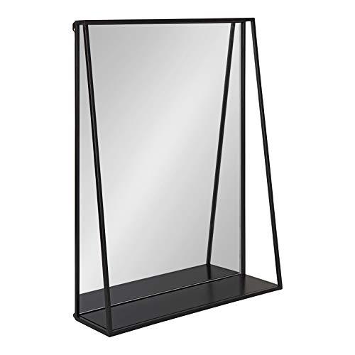 Kate and Laurel Lintz Modern Mirror with Storage Shelf, 18