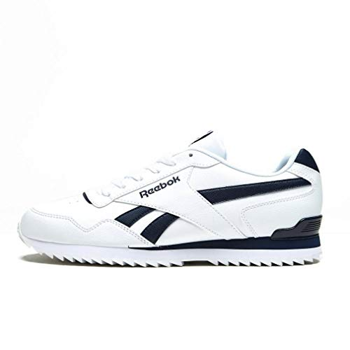 Reebok Royal Glide Rplclp, Zapatillas de Gimnasia Hombre, Blanco (White/Collegiate Navy White/Collegiate Navy), 43 EU