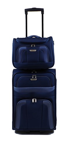 Travelite Orlando Trolley 53 cm + Beauty Case in 3 Farben (Blau)