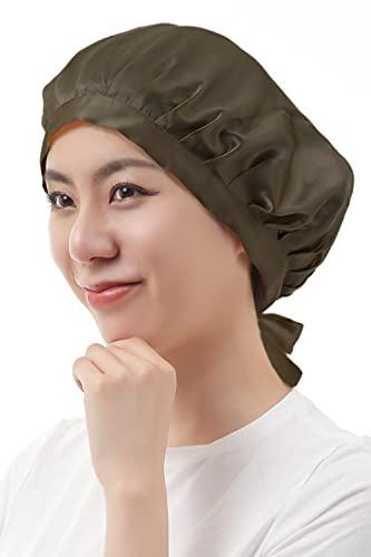 TIÁM ナイトキャップ 美容師さんが考えた 日本人の髪質に特化 脱げにくい 寝ぐせ防止 美髪アドバイザー推奨 (ブラック)