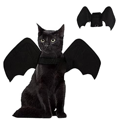 JTLB Disfraz de gato con alas de murciélago para Halloween