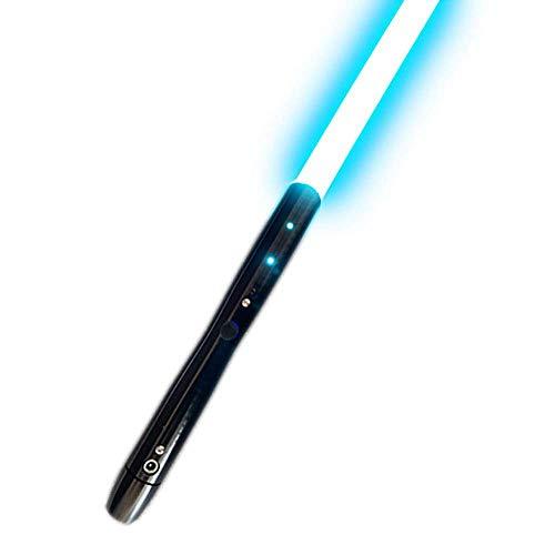 Lightsaber Spada Laser con Effetti sonori Spada Laser in Metallo Star Wars (Manico nero blu ghiaccio)