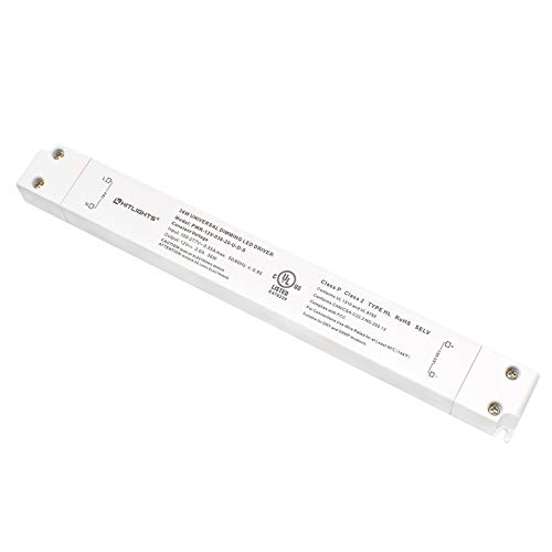 HitLights LED Driver, 36W LED Dimmable Driver Transformer 110-277VAC - 12V 3A DC Electric Dimmable Power Supply for LED Strip Lights, 12V Constant LED Products