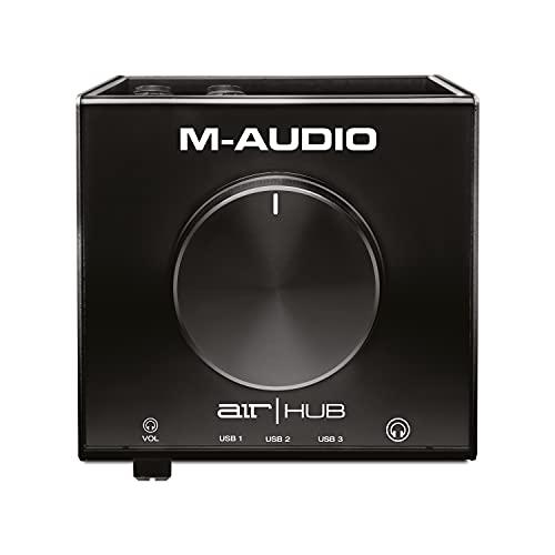 M-Audio AIR HUB - Interfaccia di Monitoraggio Desktop USB/USB-C con Hub Integrato e Pacchetto Software