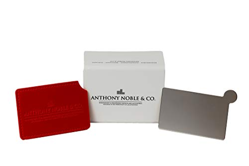 Anthony Noble & Co. Pocket Spiegel met of zonder handvat, make-up spiegel, stevige metalen spiegel, handtas spiegel, kleine spiegel