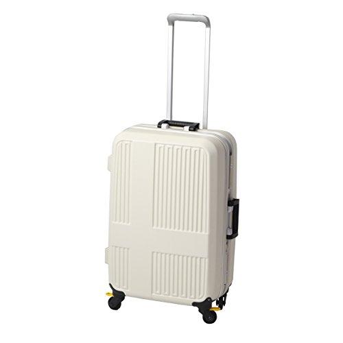 [イノベーター] スーツケース グッドサイズ ストッパー 10周年モデル INV575 保証付 60L 66 cm 4.5kg エンボスアイボリー/オレンジ