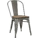 MODWAY Promenade Gunmetal Bamboo Side Chair EEI-2028-GME - The Home Depot