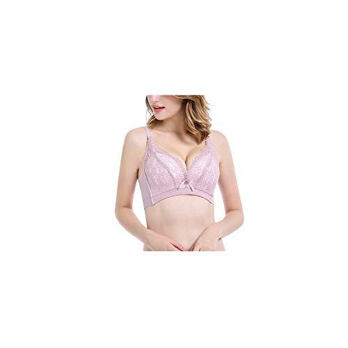 LFEILONG Wintermodelle schnüren Sich Nahtlose Unterwäsche ohne Stahlringverstell-BH Sojapulver 34 / 75B