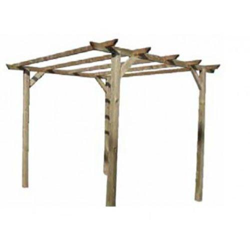 Pergola tettoia in legno 3 x 3 x 2,4 mt.
