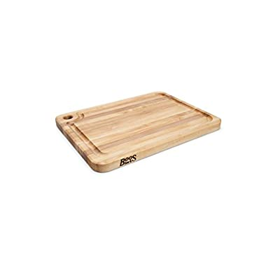 John Boos Prestige Maple Wood Edge Grain Reversible Cutting Board with Juice Groove, 20 Inches x 15 Inches x 1.25 Inches