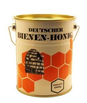 Honig (2,5kg Ein Deutscher Blütenhonig aus Hessen) - naturbelassen, nur gesiebt und ungefiltert