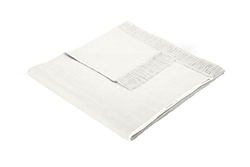 Biederlack Sesselschoner, 60 % Baumwolle, Mit Fransen, 50 x 200 cm, Natur, Cotton Cover Natur,  503923