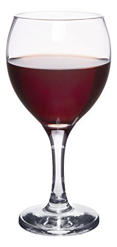 Classic Crystal Clear Stemmed Red Wine Glass 12 Ounce - Set of 4
