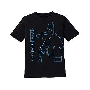 Ägypten Shirt Kinder mit Anubis Bastet Horus Hathor Seth Thot personalisiert mit Wunschnamen in Hieroglyphen