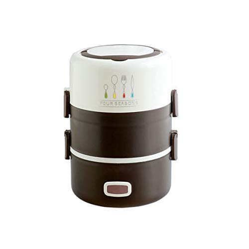 XYZ Elektrische Lunchbox Reiskocher Klein Mikrowellen Lunch Box Messbecher Henkelmann Edelstahl Thermo Rice Cooker Mini Mikrowelle Speisenwärmer Elektrische Lunchbox Thermobehälter