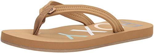 Roxy Women's Vista Sandal Flip-Flop, Brown New, 8 M US