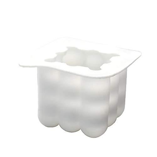 NaisiCore Velas moldea DIY 3D Cubo de Silicona Molde para Artesanía Adornos Pastel, jabón, Velas, Chocolate Blanco Grande