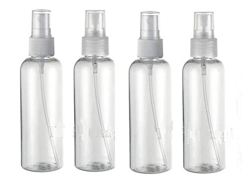EMI Craft Lot de 4 Flacon Vaporisateur 100ml Vide Sac Atomiseur de Poche Spray Plastique