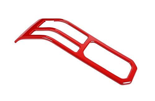 LBLDD Para Suzuki para Jimny 2019 2020 Freno De Mano Portavasos De Agua Panel Decoración De La Cubierta Etiqueta De Ajuste Accesorios De Ajuste Interior del Coche (Color: Carbón Rojo)