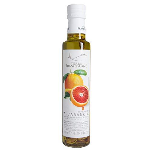 Terre Francescane - Orangen-Öl - Extra Natives Olivenöl mit Orangen-Schalen (2er Pack / 2 x 250 ml)