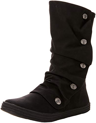 Blowfish Damen Rammish High Slouch Boots, Black Texas PU 020 Schwarz, 38 EU