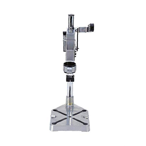 GPWDSN Hand Metal Drill Press Stand with Solid Column Bar and Sturdy Base Tool Suitable for the Electric Power Drills(silver) Drill Stand