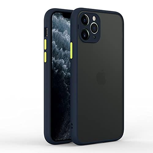 GGOIl Estuche Mate para iPhone 12 Mini 11 Pro MAX 11Pro 12Pro iPhone12 X XS XR 7 8 Plus SE 2020 Cubierta Azul Accesorios de protección de cámara, Azul, para iPhone 11 Pro