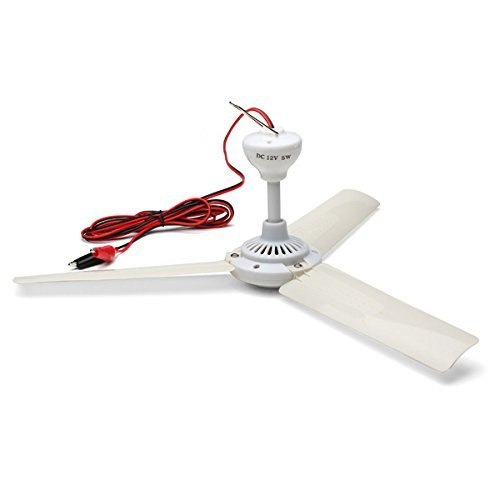 """12V DC 19.7"""" inch Ceiling Fan with Switch Outdoor Camping Fan for 12V Battery Power … (no-Switch)"""