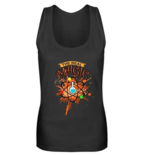 Chemie Magie – Química profesor escuela, ciencia, regalo de cumpleaños, frases divertidas – Camiseta de tirantes para mujer Negro  L