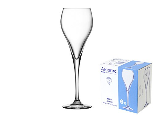 Arcoroc ARC J1478 Brio Sektkelch, Sektglas, 160 ml, Glas, transparent, 6 Stück