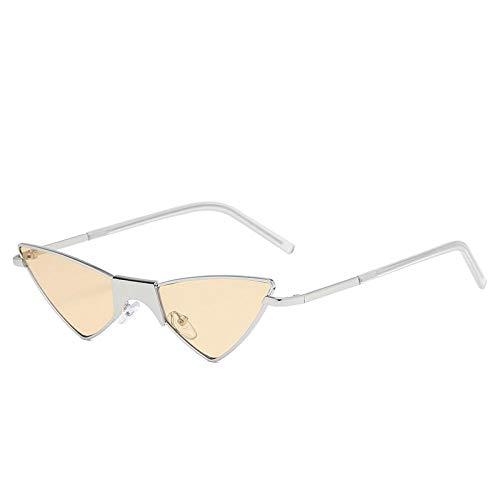 Womentriangle Gafas de Sol con Forma de Ojo de Gato Hombres Gafas de sombreado de Tendencia Protección UV 7