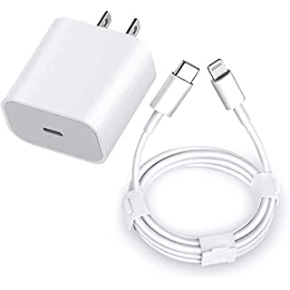 Asuelymu USB C Fast Charger, 20W PD Type C Power Wall Charger with 6FT USB-C to Lightnin Cable for Phone 12/12 Pro/12 Pro Max/11/11 Pro Max/Xs Max/XR/X, Pad, AirPods Pro