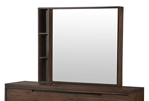 Modus Furniture Portland Solid Wood Mirror, Walnut