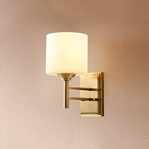 CHOUCHOU Apliques Pared Pasillo del Pasillo del LED de Cobre lámpara de Pared de Comedor Salón Dormitorio Estudio Escalera Balcon Copa de Oro Caliente Amarillo Simple luz Moderna