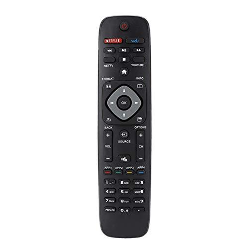 YOUTHINK Reemplazo del Controlador de Control Remoto Reemplazo para Philips PHI-958 Smart TV DVD