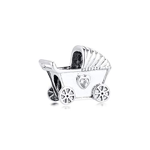 Jewelry Bracelet 925 Pandora Natural Baby'S Pram Beads Sterling Silver Clear Cz Charms Beads For Making Fits Original Charm Kralen Diy Gifts For Women