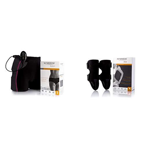 Slendertone Short Bottom Electroestimulador para glúteos Mujer, Negro/Rosa + Accesorio de Brazos para Mujer, (Vendido sin el Mando de Control)