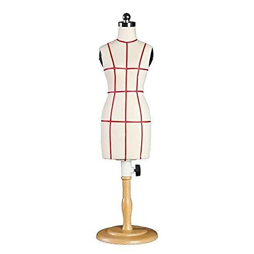 HAO KEAI Maniqui Costura Fuma sastres maniquí pequeño modsmakers maniquí hembra, altura ajustable, sastre manikins mini muñeca vestido de muñeca pantalla de muñeca accesorios decoración Maniquí Femeni