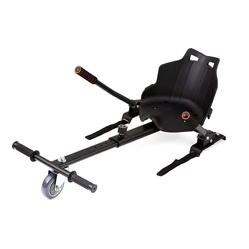 LIUXIN Go-Kart Regolabile Autobilanciato, Lunghezza Regolabile del Pedale Della Gamba, Go-Kart Sedia per Self Balancing Scooter,Compatibile con i 6.5, 8 e 10 PolliciBlack